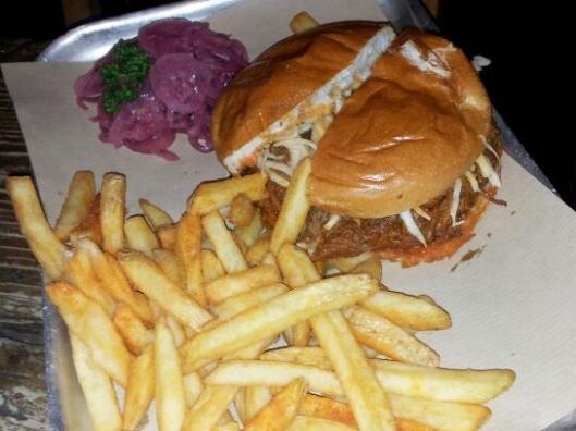 Duke's Brew & Que Pulled Pork Burger