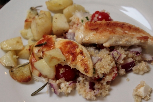 Griddled Chicken & Quinoa Greek Salad