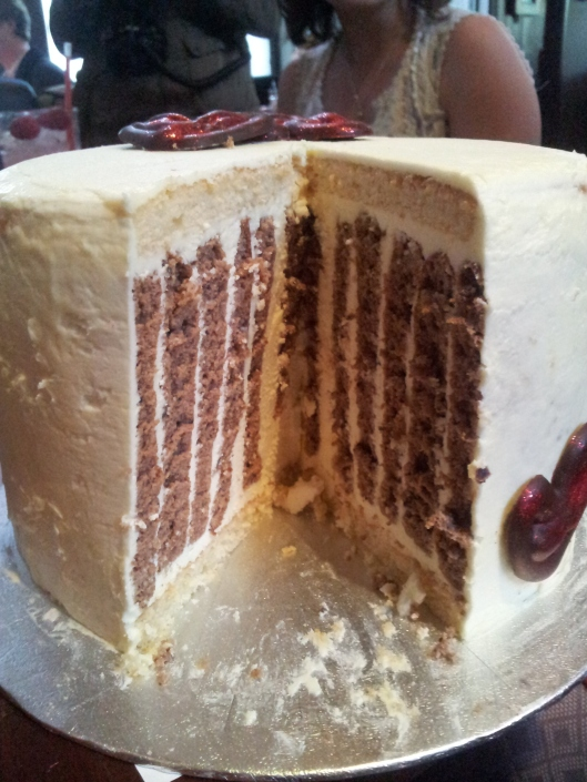 Beautiful layered cake