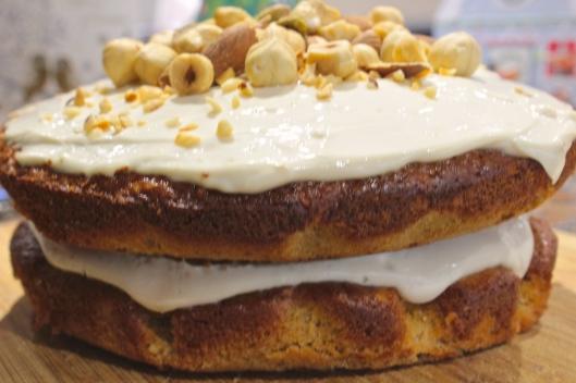 layered parnsip cake
