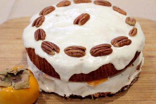 Persimmon Yoghurt & Pecan cake