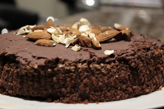 Almond Chocolate & amaretto cake