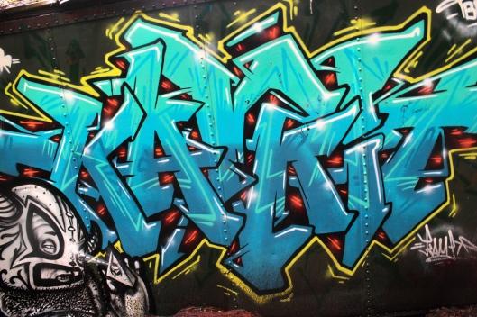 Graffiti Train Wreckage Whistler