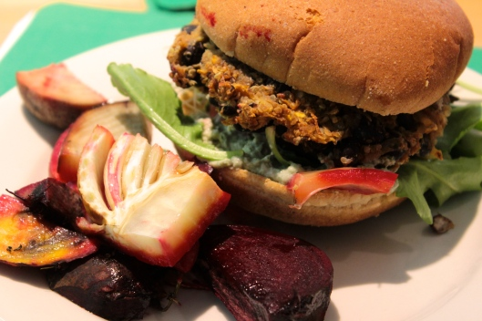 Black Bean Burger_Rooted Nutrition