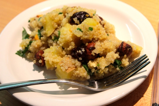 Roasted Yam and Sour Cherry Quinoa