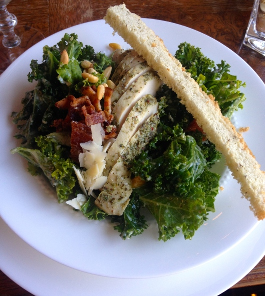 Kale Chicken Caesar Salad Neverland