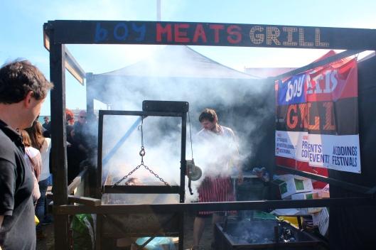 boy meats grill