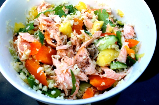 salmon & mango cous cous