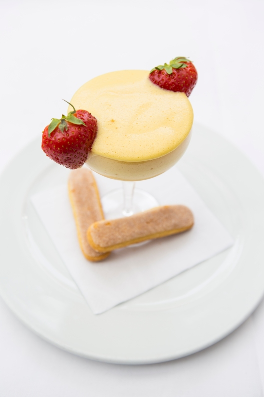 Zabaglione - a light dessert of whipped sugar & eggs flavoured with Marsala, traditionally whisked by hand in a copper bowl -ú4.5 (1)